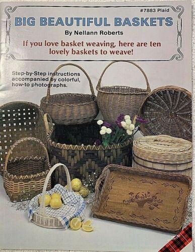 Big Beautiful Baskets 10 Patterns Nellann Roberts Vintage Booklet 7883