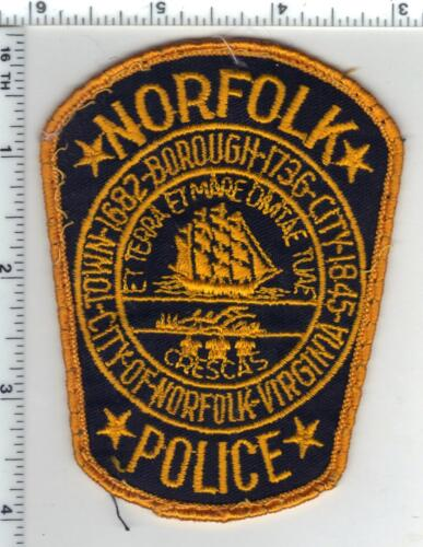 Norfolk Police (Virginia) Uniform Take-Off Shoulder Patch from the Early 1980