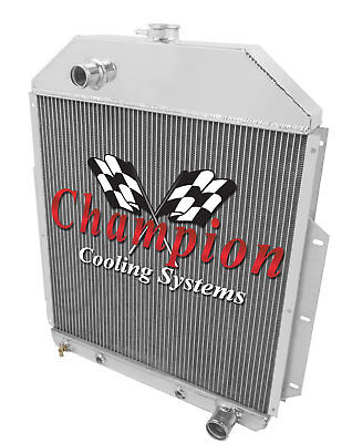 48 49 Ford F1 Pickup Truck w/Chevy V8 Champion 3 Row Aluminum Radiator CC4252CH