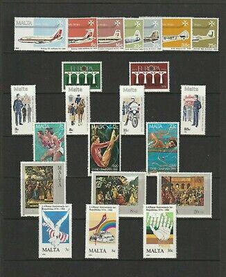 MALTA - 1984 Commemoratives - 6 sets - SG 729/50 - u/m