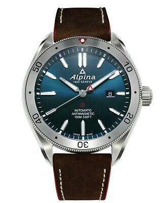 Alpina Alpiner 4 Automatic Blue Dial Leather Strap Men's Watch AL-525NS5AQ6