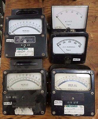 Ac Volt Meters Weston Simpson 5 Pieces Used