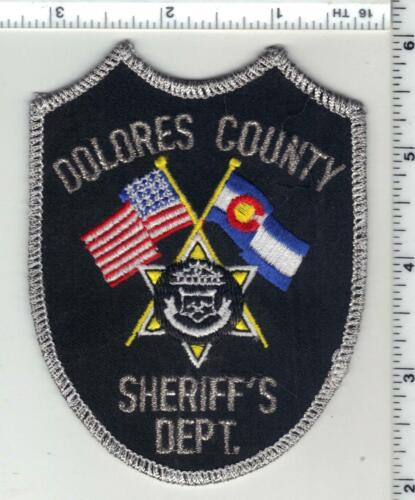 Dolores County Sheriff (Colorado) 2nd Issue Uniform Take-Off Shoulder Patch
