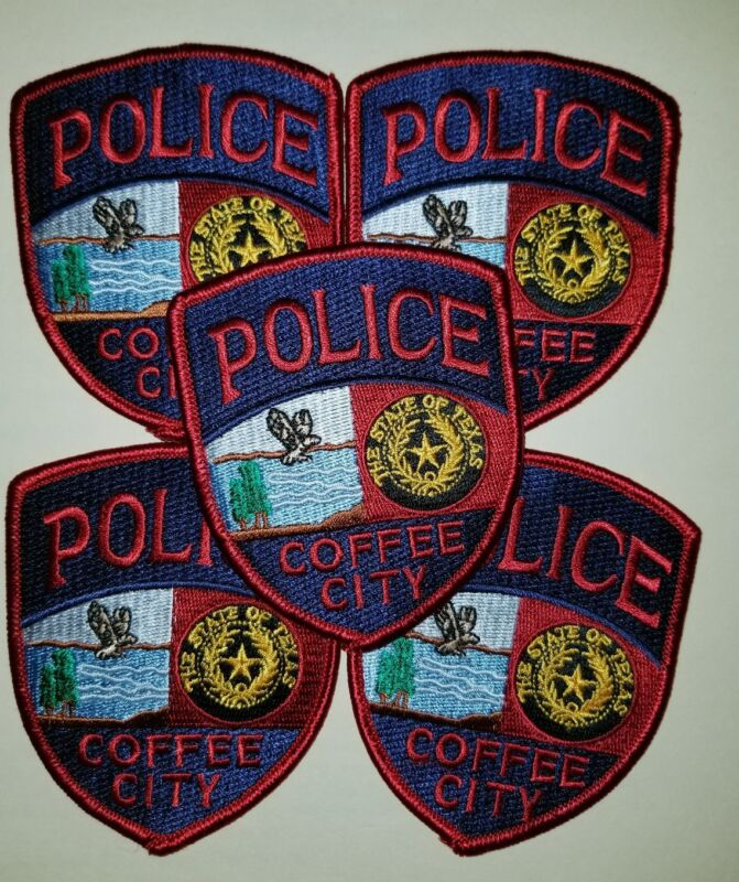 Lot of 5 Coffee City Texas Police Patch
