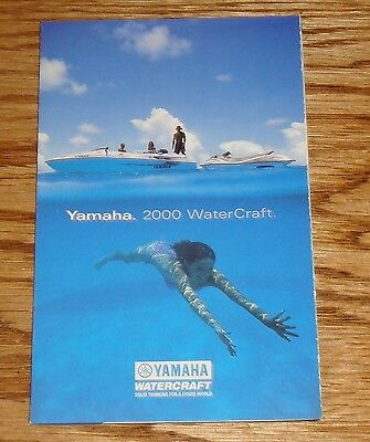 Original 2000 Yamaha Sport Boat - Waverunner Full Line Foldout Sales Brochure 00