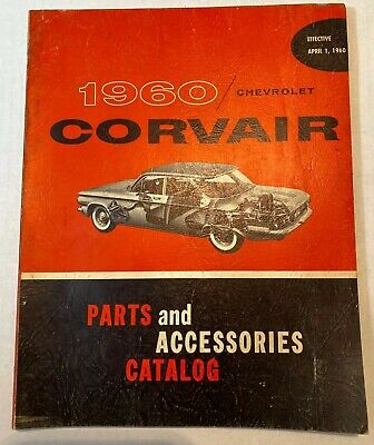 Vintage OEM 1960 Chevrolet Corvair Parts and Accessories Catalog