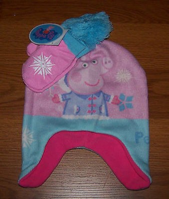 One Size Youth Toddler Girls Peppa Pig  2-Piece Set Hat & - Peppa Pig Hat
