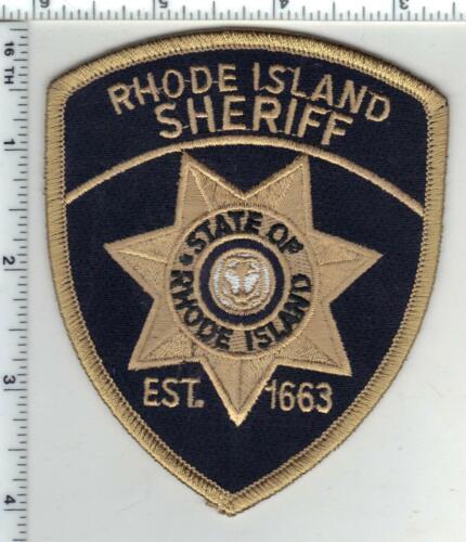 Rhode Island Sheriff Black Background 1st Issue Shoulder Patch