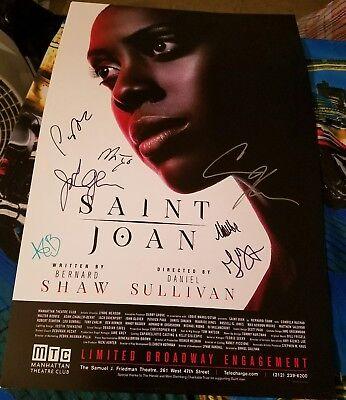 Saint Joan signed Broadway poster Condola Rashad Adam Chanler-Berat John Glover
