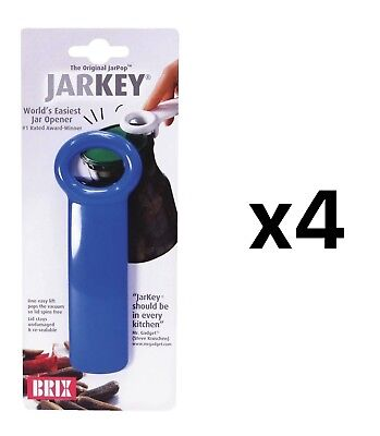 Brix JarKey Jar Opener for Vacuum-Seal Jars - Assorted Colors (4-Pack) for sale  Shipping to India