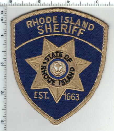 Rhode Island Sheriff Blue Background 2nd Issue Shoulder Patch