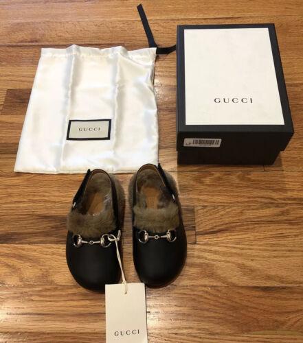 NIB Authentic Gucci Princetown Baby Unisex Shoes Slides Fur