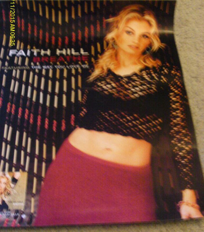 Hot Faith Hill Breathe 2000 Promo Poster