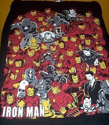 Iron Man Black T Shirt Large  Series Film  Robert Downey Jr  Free Usa Shipping