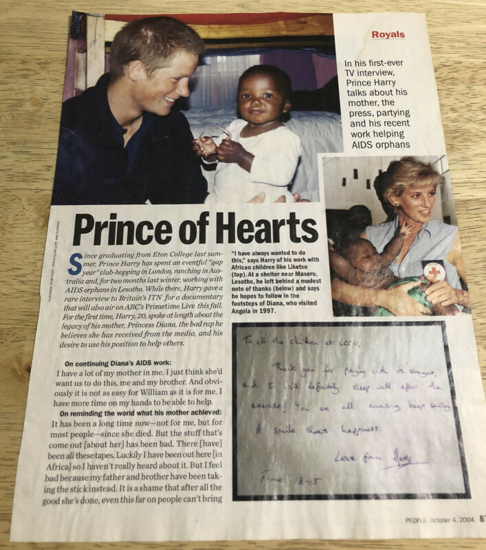 PRINCE HARRY Prince of Hearts - 2004 Magazine Article 2-sided