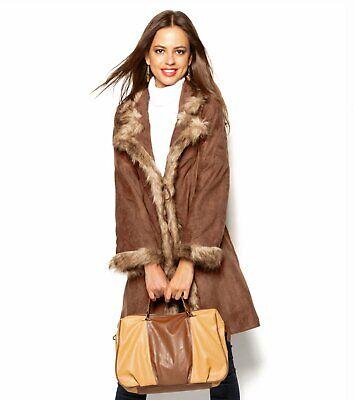 Abrigo Mujer- Especial tallas grandes con detalles de pelo sintético Talla 50