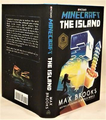 Minecraft  The Island  Max Brooks  Signed  1St 1St  New