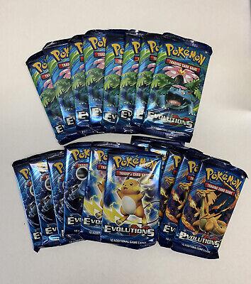 Pokemon TCG XY Evolutions 20 Packs Charizard Blastoise Venusaur Pikachu