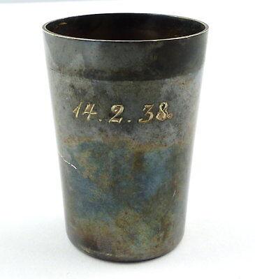 e9693 Kleiner Wodkabecher aus 835 Silber 14.2.38 Wilhelm Binder