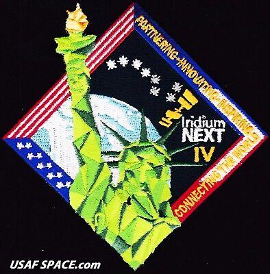 AUTHENTIC Iridium NEXT Launch-4 - SPACEX FALCON 9 USAF VAFB COMM SATELLITE PATCH