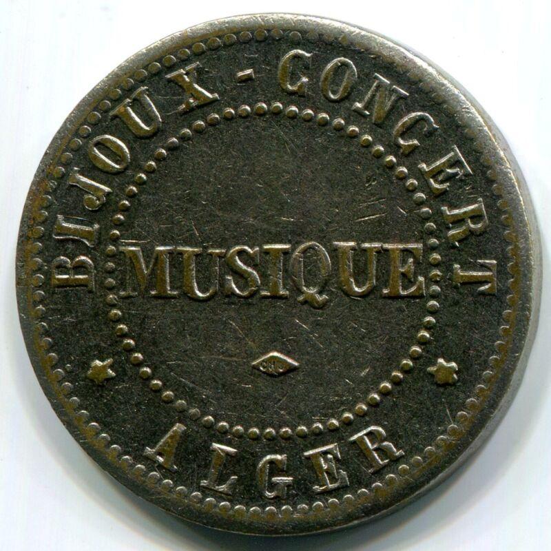 Algeria, Alger - Bijoux Concert Musique Token