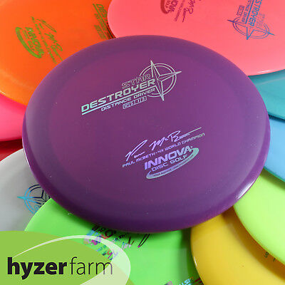 Innova PAUL McBETH STAMPED STAR DESTROYER  Hyzer Farm disc golf driver   Innova Star Destroyer