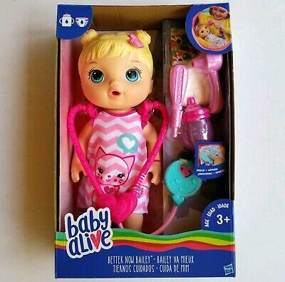 Baby Alive Better Now Bailey Blonde Doll 4 Accessories Interactive Checkup