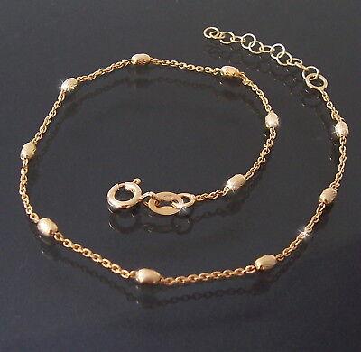 Fußkette Kette 925er Silber Gold Länge 24-27cm Schmuck Fuß Fußschmuck 14512G-27