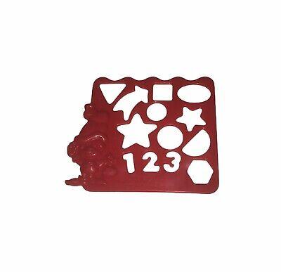 "Ponderosa Steakhouse Vintage 1994 ""Sprinkles"" Character Plastic Stencil Red"