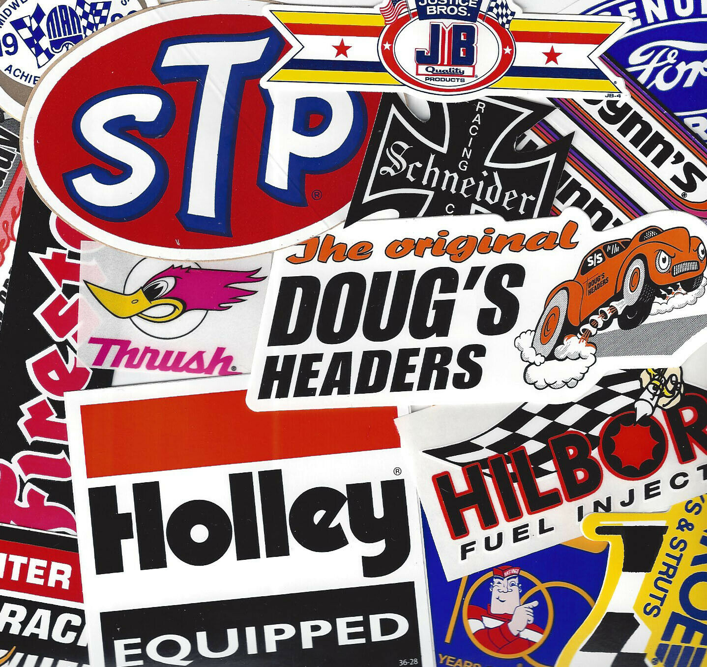 Assortment Set Lot 12 Nostalgia Vintage Racing Decals Body Hot Rod