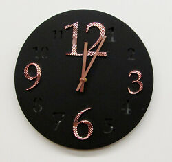 HERMLE  HM 31001 NEW 12  ROUND NON CHIMING BLACK WALL CLOCK HM-31001