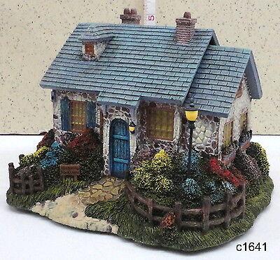 Thomas Kinkade Hawthorne Village FOXGLOVE BOATHOUSE Lamplight Seaside House