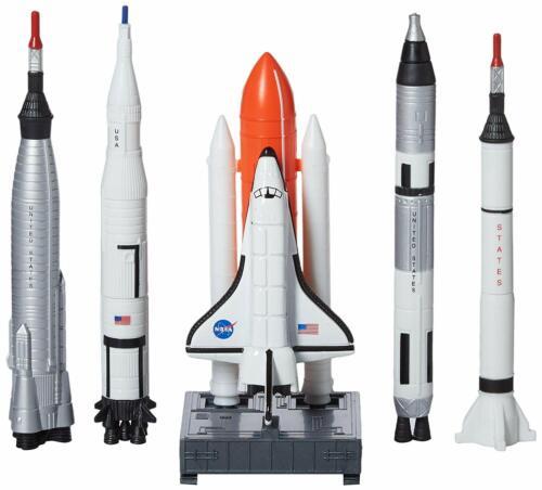 NASA Space Shuttle And Rockets 5 Piece Gift Pack Mercury Gemini Apollo Shuttle