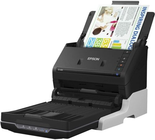 Epson WorkForce ES-400 Color Duplex Document Scanner for PC and Mac, ADF New