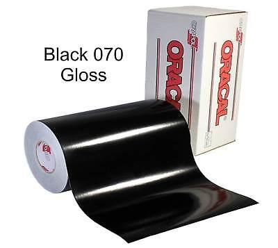 12 X 10 Yd Roll 30 - Oracal 651 Vinyl - Adhesive Permanent Outdoor - Black