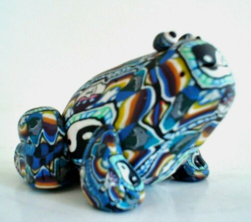Millefiori Polymer Clay Frog Yin and Yang Symbols Beach Style