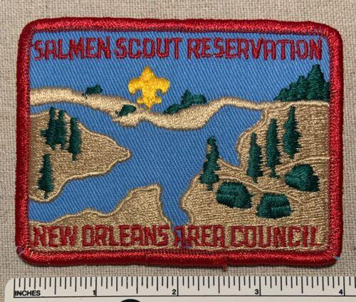 Vintage SALMEN SCOUT RESERVATION Boy Scout Camp PATCH New Orleans Area Council