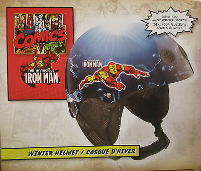 The Invincible Iron Man Child Snowboard Helmet Brand Size 4-8 Year Old