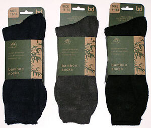 3 PAIRS AUSTRALIAN MADE MENS SZ 11-14 MIXED BAMBOO CUSHION FOOT WORK SOCK