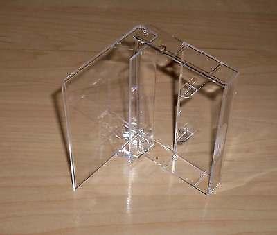 10 Kassettenhüllen Leerhüllen f. Cassetten MCs Hüllen transparent  Kassetten Neu