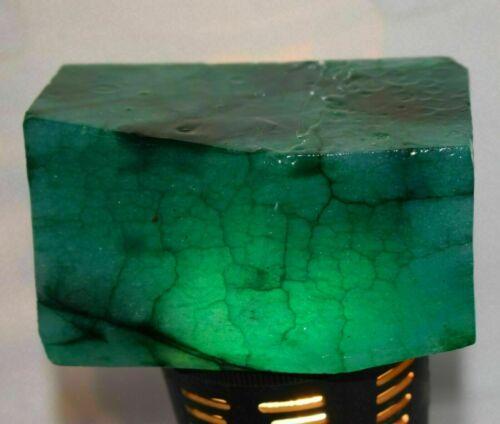 Natural 3490 Ct EGL Certified Colombian Green Emerald Huge Gemstone Rough