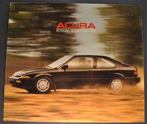 1988 Acura Integra Sport Sedan Sales Brochure Sheet Excellent Original 88