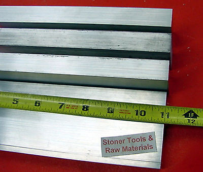 4 Pieces 34 X 2-12 Aluminum 6061 Flat Bar 11 Long T6511 Extruded Mill Stock