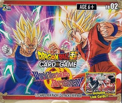 Dragonball Super Card World Game Martial Arts Tournament sealed box 24 packs 12