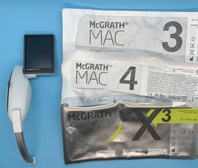 McGRATH MAC Video Laryngoscope NEW with Custom case & 3 yr seller warranty