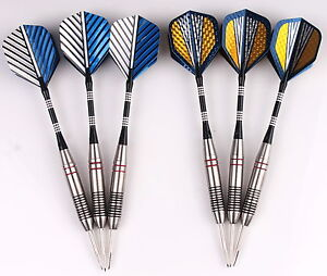 2 sets of Steel Tip Darts 23g Stainless Barrel with Aluminium Shafts