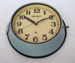 Vintage Navigation Marine Time Slave Wall Clock Ship Quartz Seiko Maritime Japan