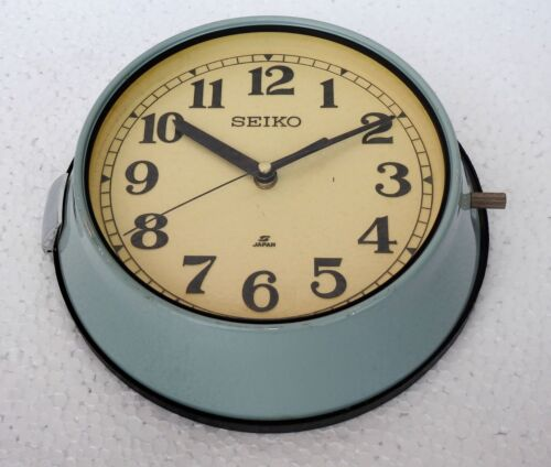 Vintage Navigation Marine Time Slave Wall Clock Ship Quartz Seiko Maritime Japan