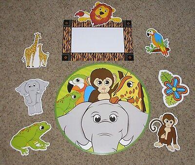 Teacher Resource: Jungle Animals Bulletin Board Bulletin Board Set (Jungle Bulletin Board)