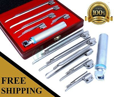 Laryngoscope Miller Set Emt Anesthesia Veterinary Animal Pet Dog Veterinarian